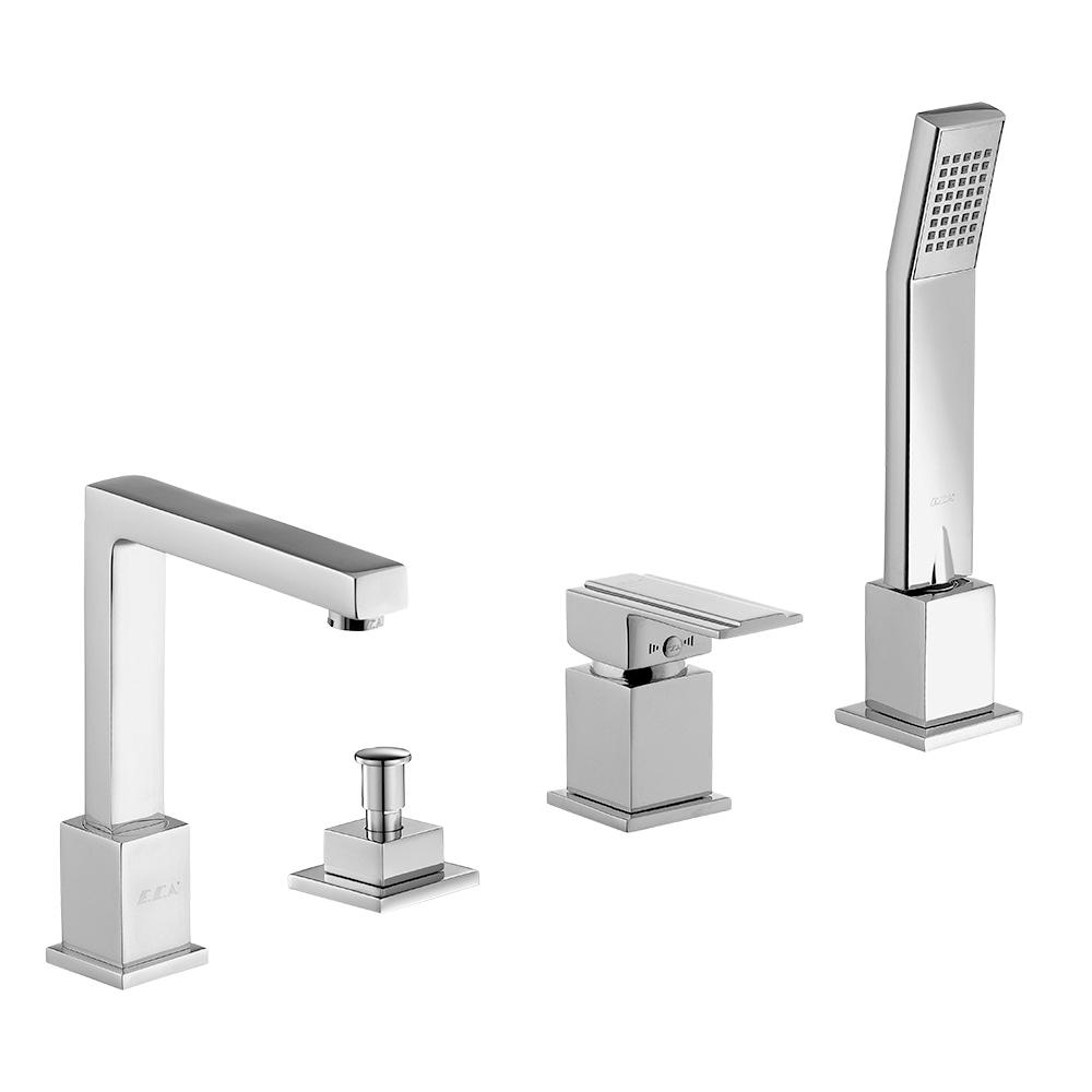 Elegant Concealed Bathtub Mixer with Hand Shower Set 4TH
