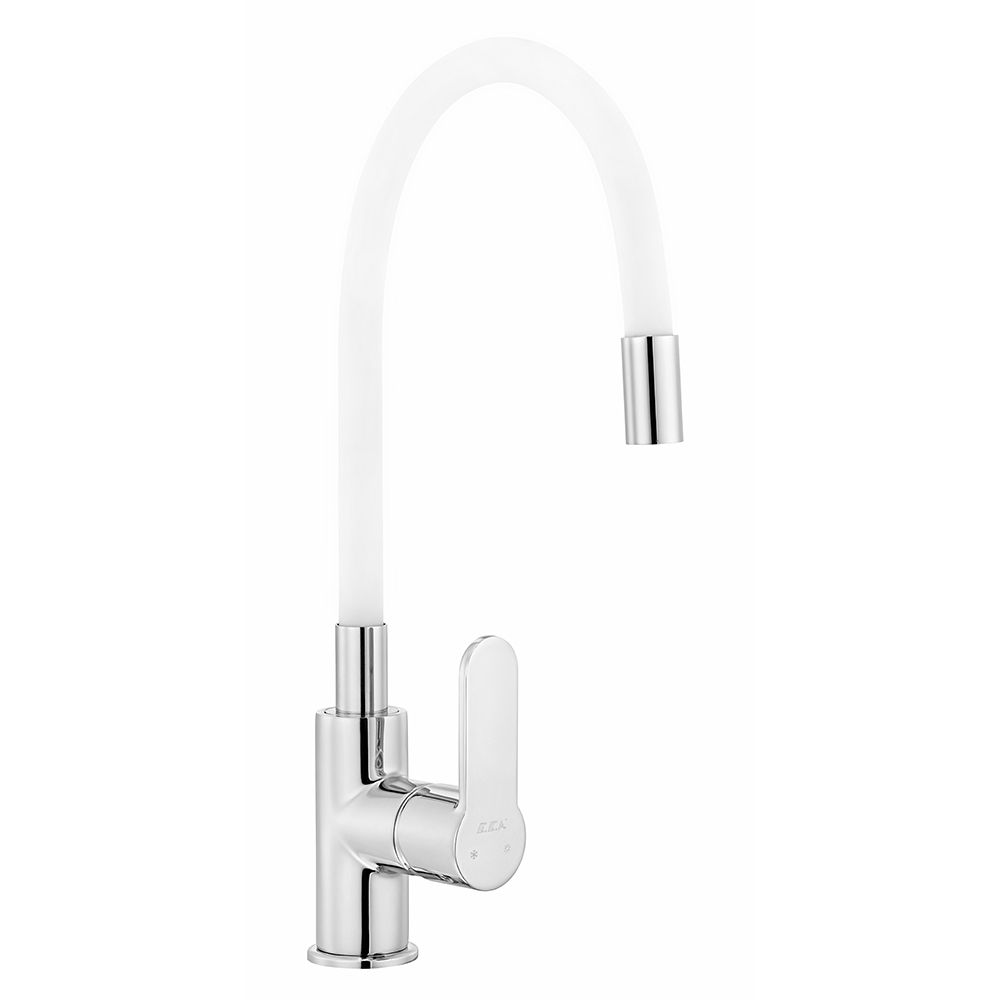 Nita Sink Mixer with Flexible Spout - White