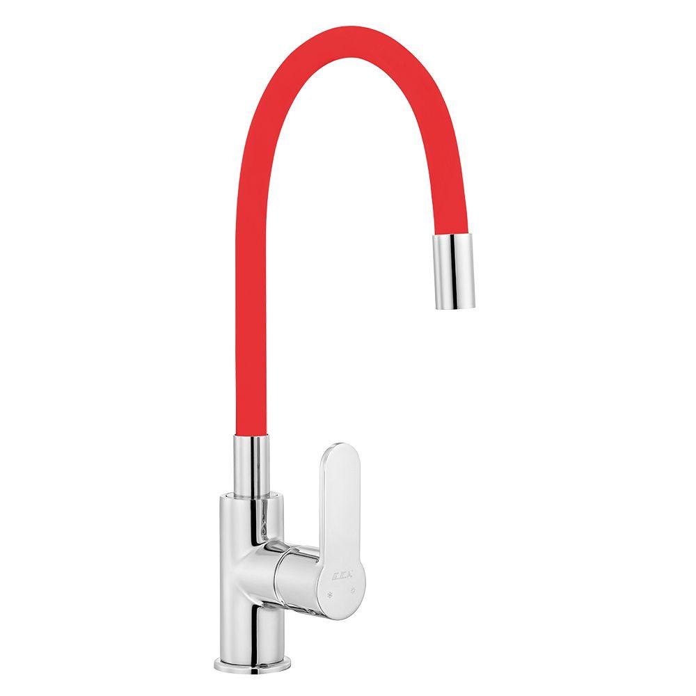 Nita Sink Mixer with Flexible Spout - Red