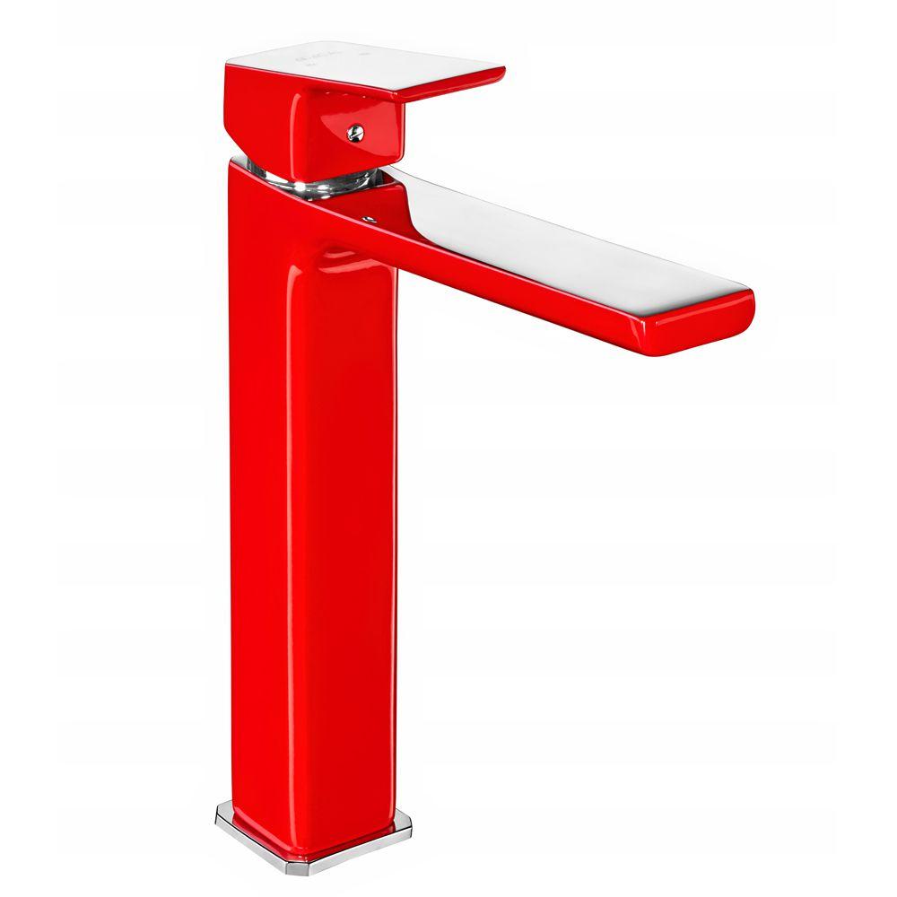 Tiera Tall Basin Mixer - Red