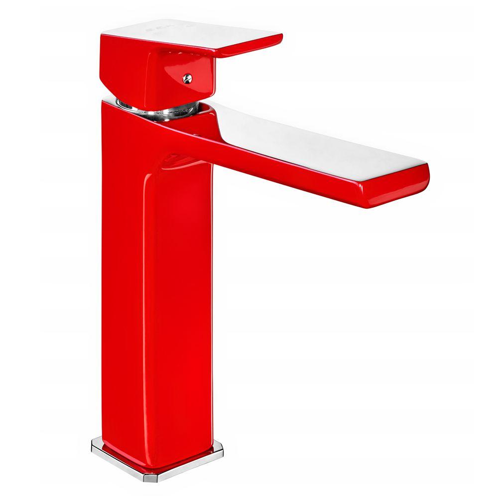 Tiera Medium Basin Mixer - Red