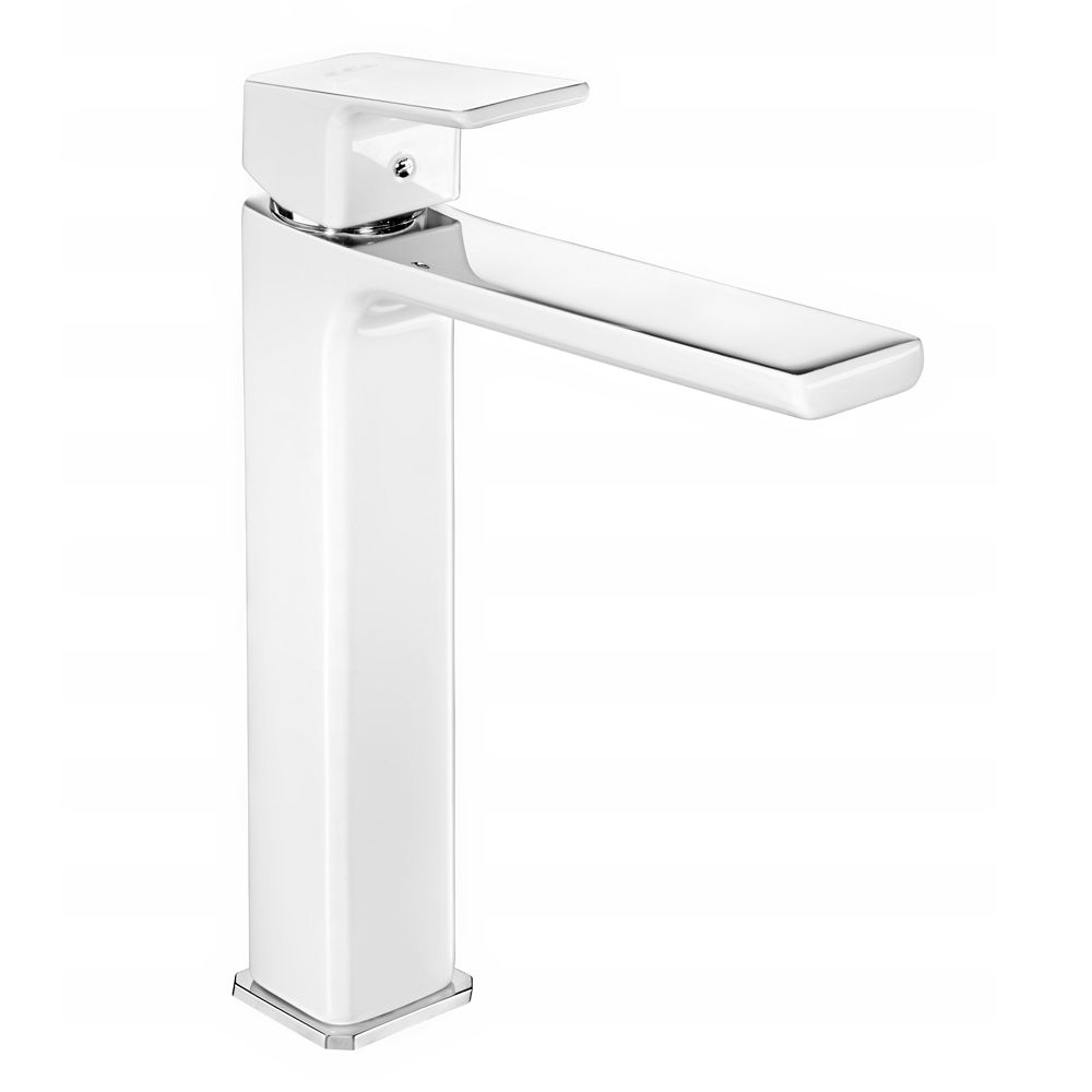 Tiera Tall Basin Mixer - White