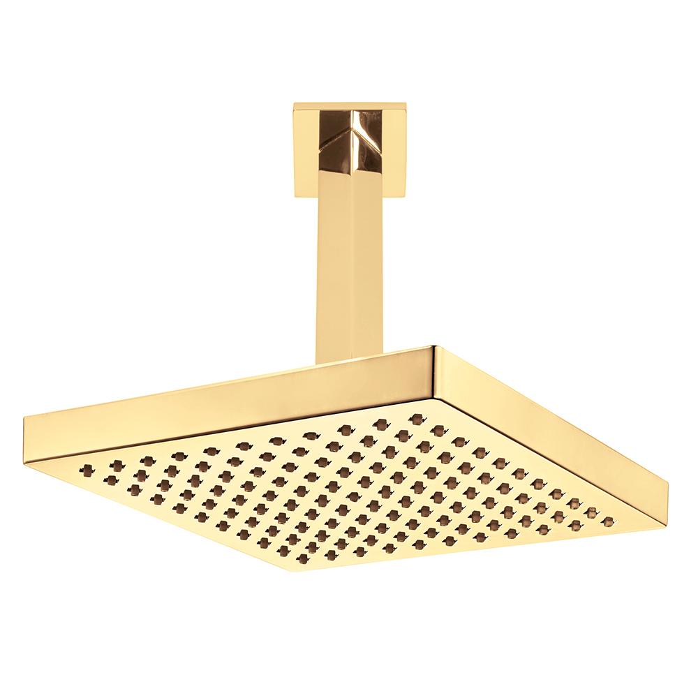 Tiera Duş Başlığı - Tavandan - Altın Görünümlü