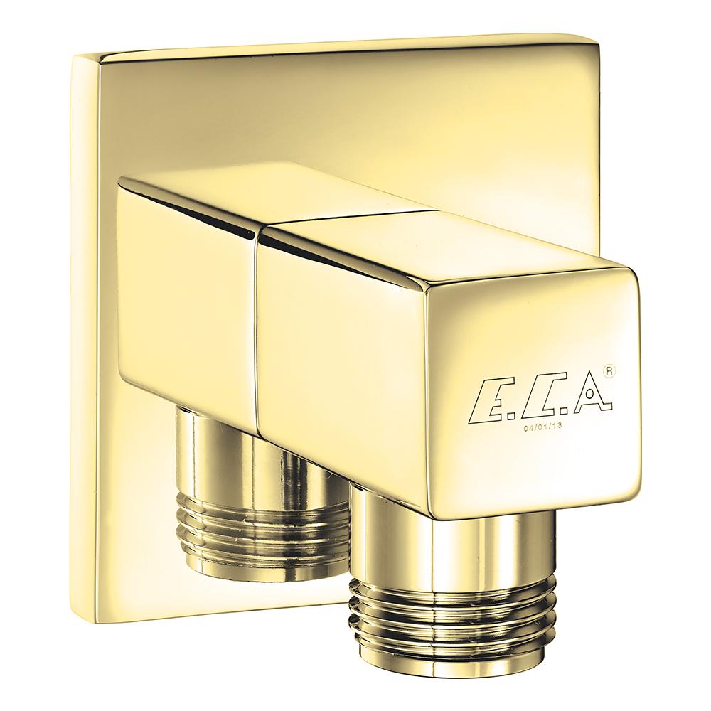Elegant Duş Dirseği - Altın Görünümlü
