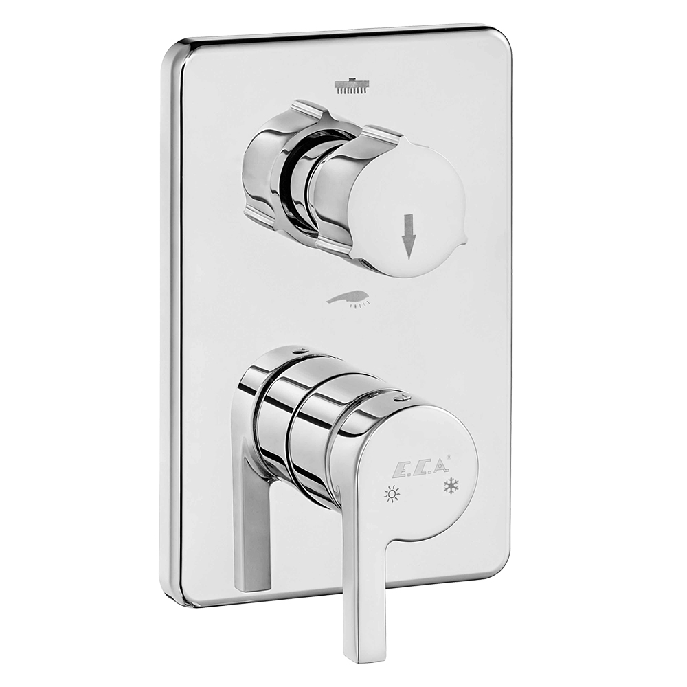 Icon Ankastre Banyo/Duş Bataryası Sıva Üstü Grubu - 2 Yollu