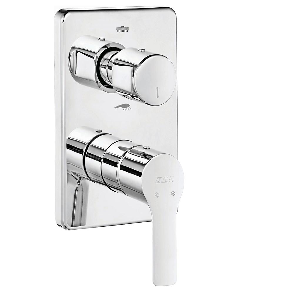 Luna Ankastre Banyo/Duş Bataryası Sıva Üstü Grubu - 2 yollu