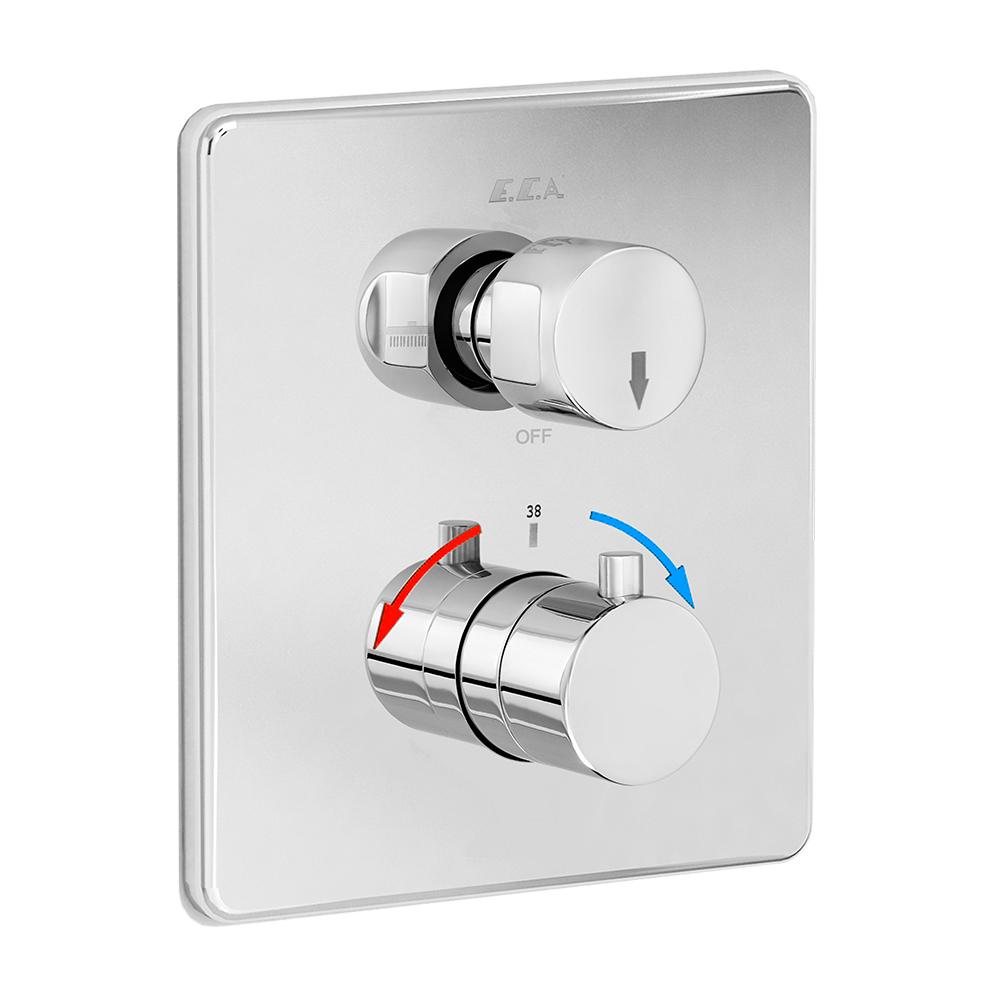 Termostatik Ankastre Banyo/Duş Bataryası Sıva Üstü Grubu - 2 Yollu