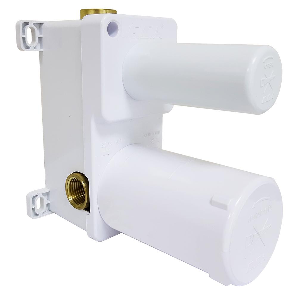 Ankastre Banyo/Duş Bataryası Sıva Altı Grubu - 2 Yollu - Mat Beyaz