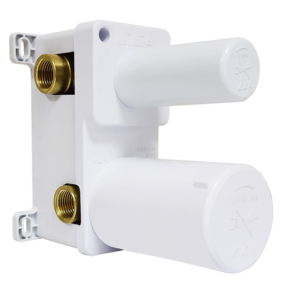 Ankastre Banyo Bataryası Sıva Altı Grubu - 3 Yollu - Mat Beyaz