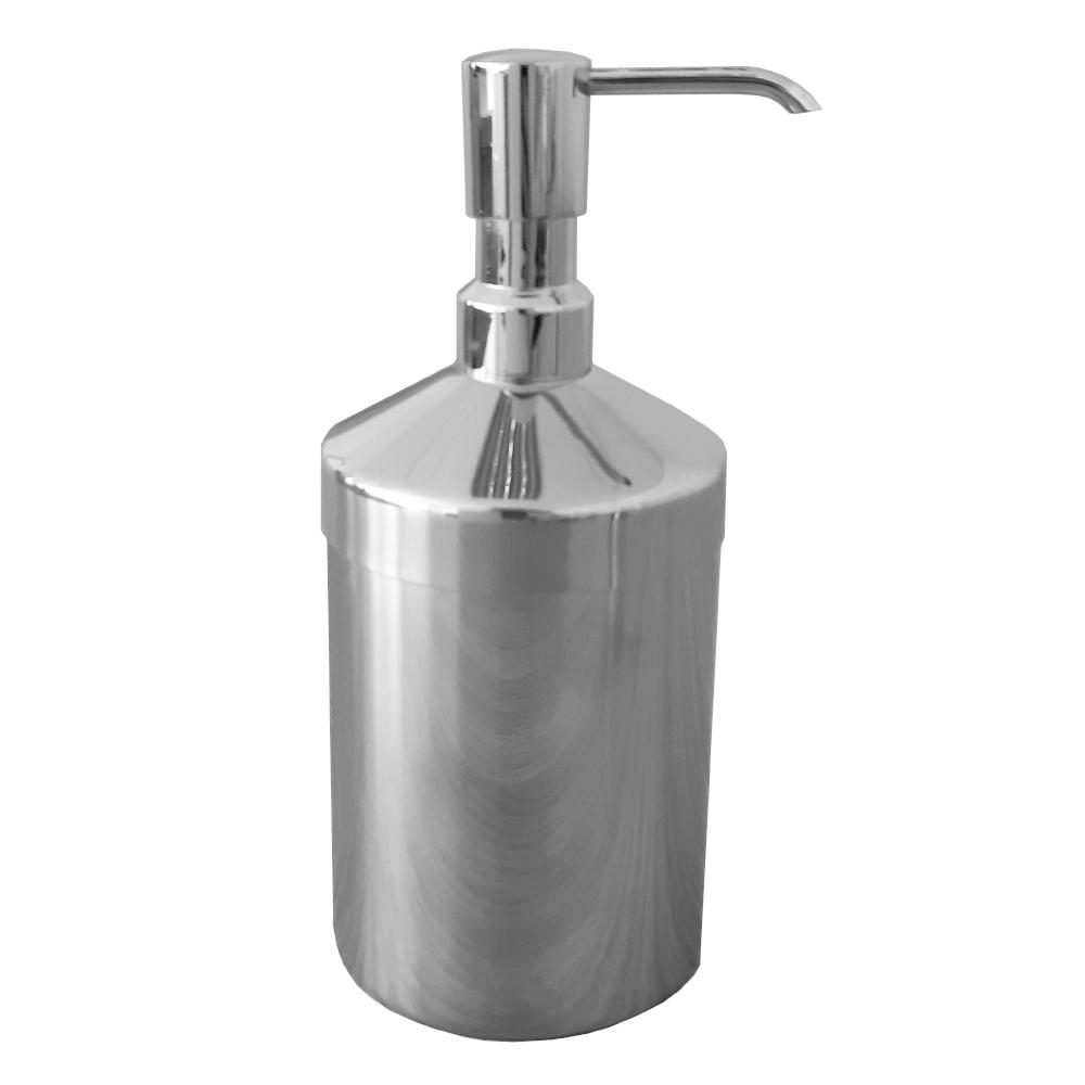 Set Üstü Metal Silindirik Sıvı Sabunluk