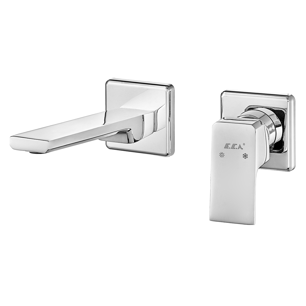 Tiera Concealed Basin Mixer Surface Mounted Group - Double Rosette - Water Saving Feature