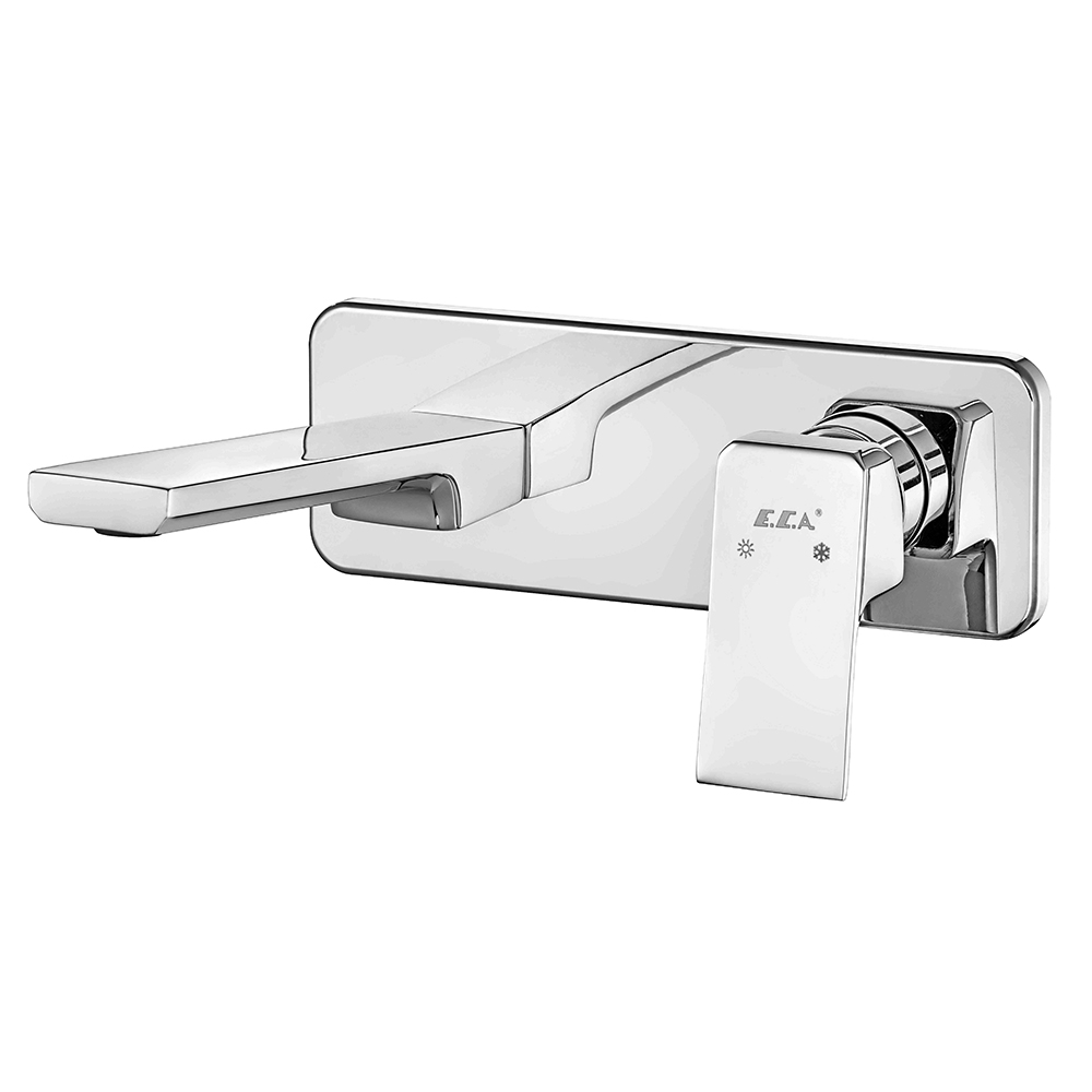 Tiera Concealed Basin Mixer Surface Mounted Group - One Rosette - Water Saving Feature
