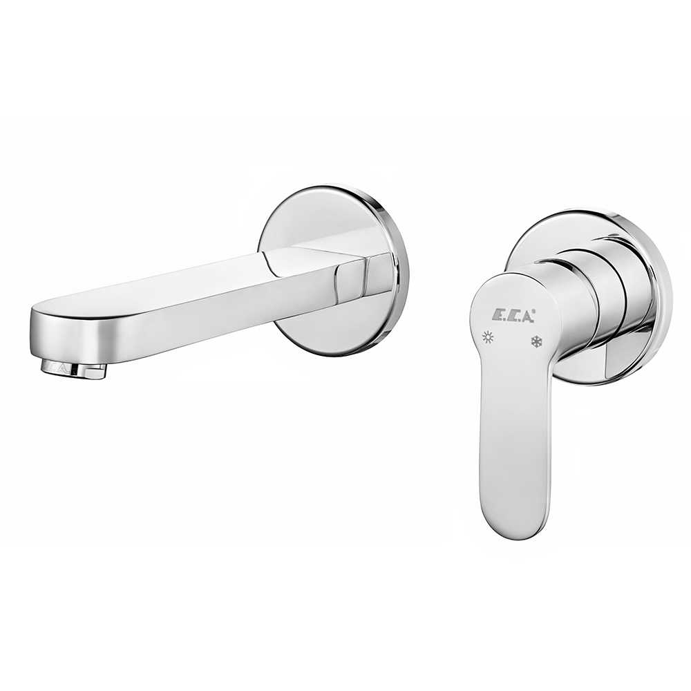 Nita Concealed Basin Mixer Surface Mounted Group - Double Rosette