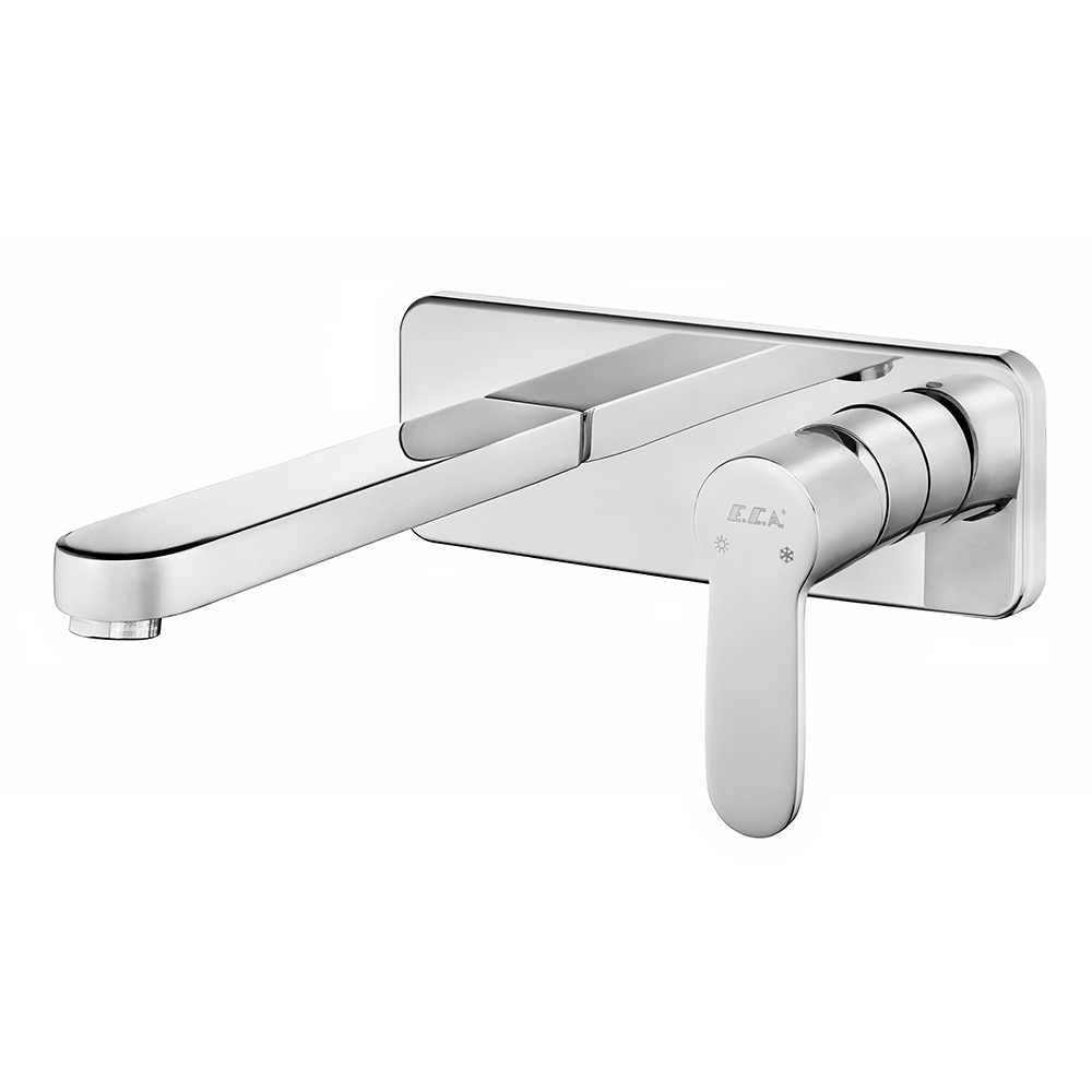 Nita Concealed Basin Mixer Surface Mounted Group - One Rosette - Water Saving Feature