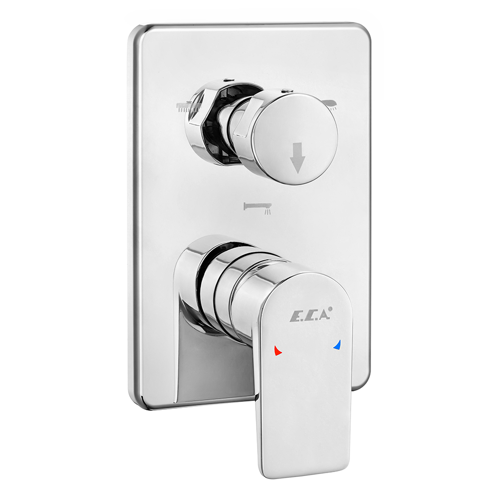 Dalia Concealed Bath Mixer Surface Mounted Group - 3 Way Diverter