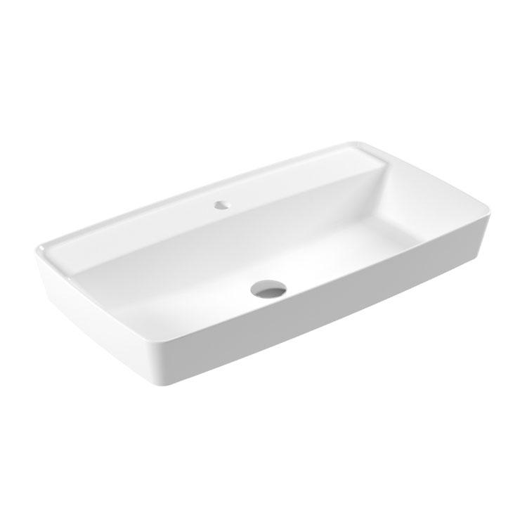 RT42 Rita Countertop Slim Washbasin 80x44cm