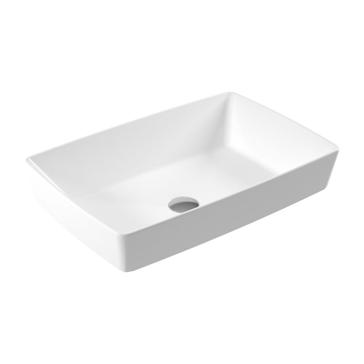 RT47 Rita Countertop Slim Washbasin 59x39cm